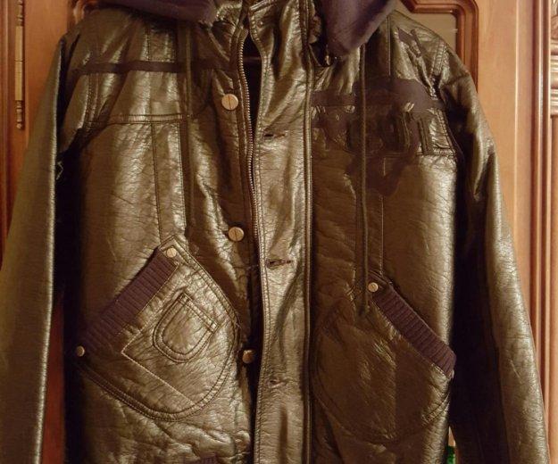 Кожаная куртка для мальчика фирмы puledro. Фото 1. Москва.