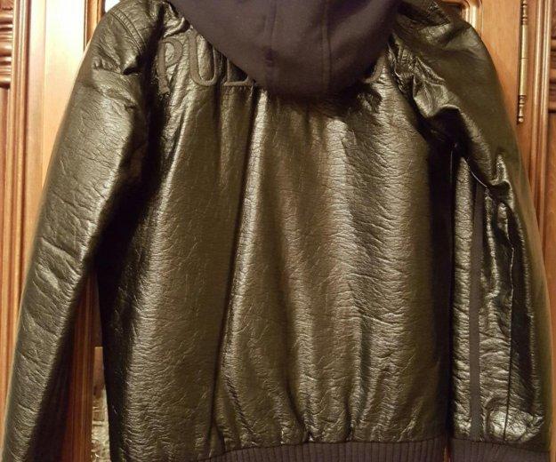 Кожаная куртка для мальчика фирмы puledro. Фото 2. Москва.