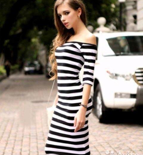 Платье полосатое новое. Фото 1. Киров.