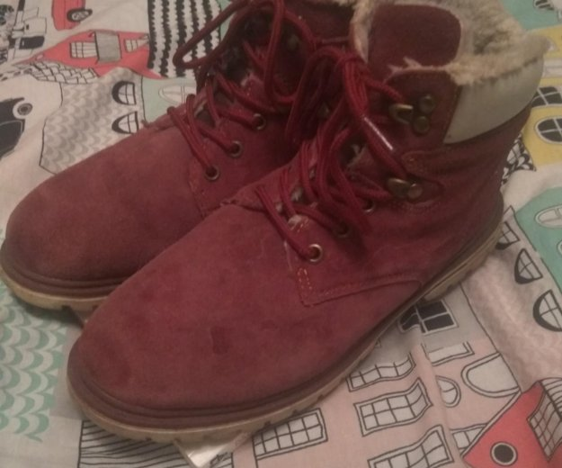 Зимние замшевые ботинки. Фото 1. Москва.