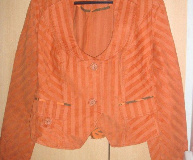 Пиджак оранжевый lo. Фото 1. Москва.