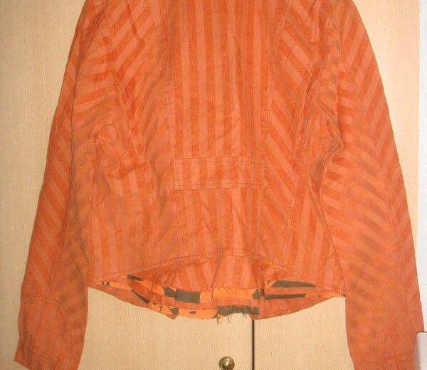 Пиджак оранжевый lo. Фото 2. Москва.