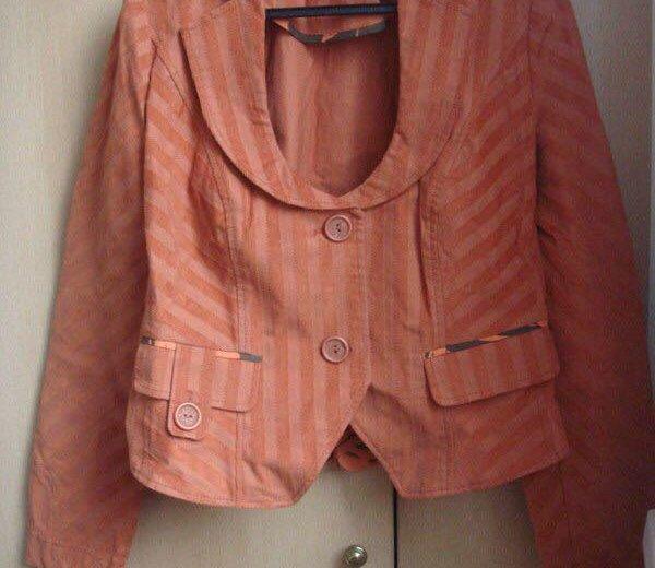 Пиджак оранжевый lo. Фото 3. Москва.
