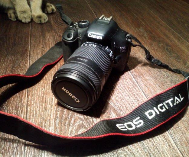 Комплект canon eos 550d + объектив 18-135mm + кейс. Фото 1. Самара.