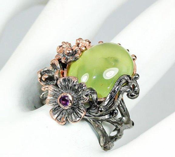 Кольцо из серебра с позолотой. Фото 1. Москва.