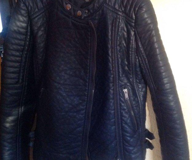 Новая кожаная куртка mango. Фото 1.