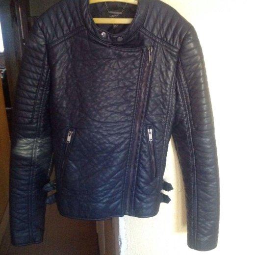 Новая кожаная куртка mango. Фото 2.