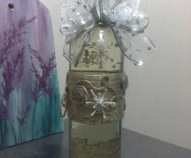 Ручная роспись бутылок к праздникам. Фото 2.