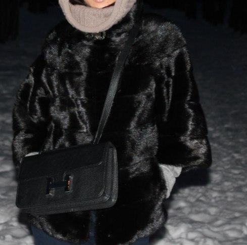 Шуба из норки(чёрная), размер 44-46. Фото 1. Москва.