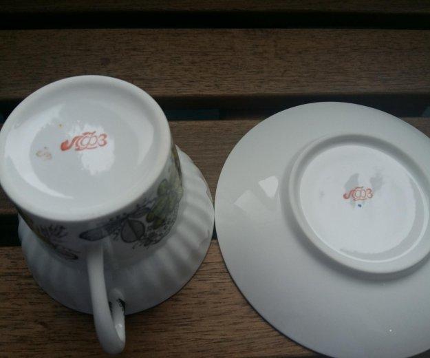Кофейная пара костяной фарфор винтаж. Фото 3. Москва.