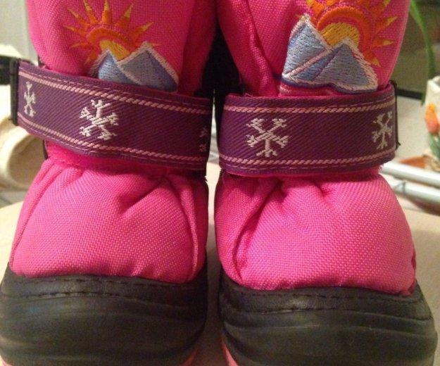 Зимние ботинки на девочку 20-21р. Фото 1. Люберцы.