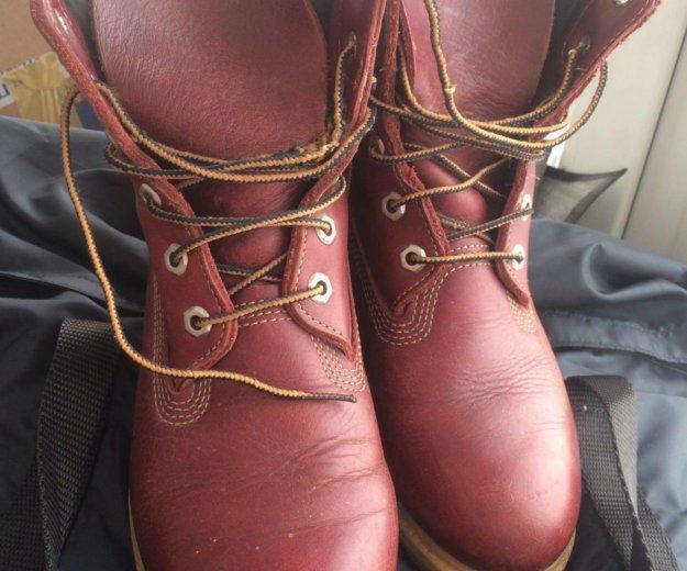 Ботинки кожаные женские timberland  размер 39 . Фото 4. Химки.