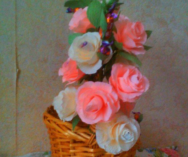 Подарочная корзина (букет из конфет). Фото 2.