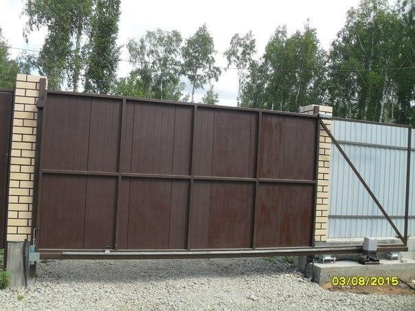 Установка ворот. Фото 3. Коркино.