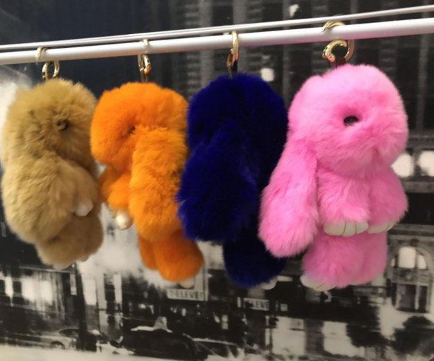 Меховые кролики брелочки!😍. Фото 1. Москва.