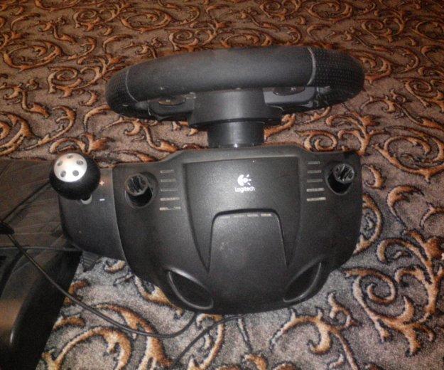 Руль игровой с педалями logitech driving force gt. Фото 1. Майский.