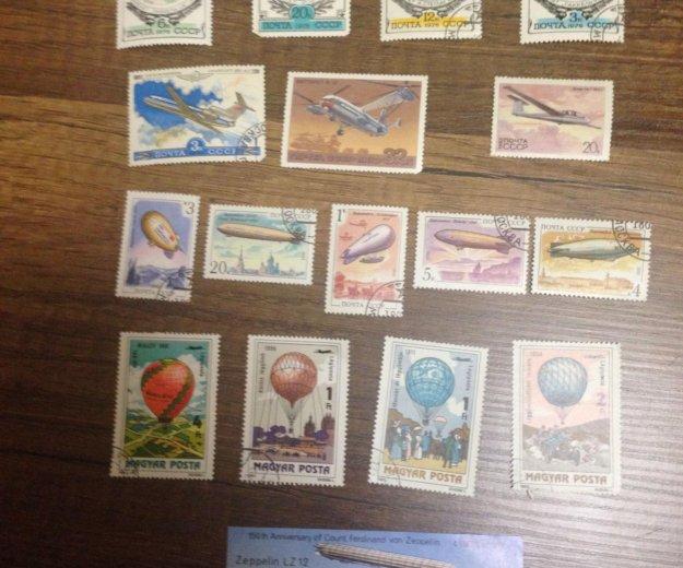 Марки самолеты, воздушные шары и космические кораб. Фото 2. Калининград.
