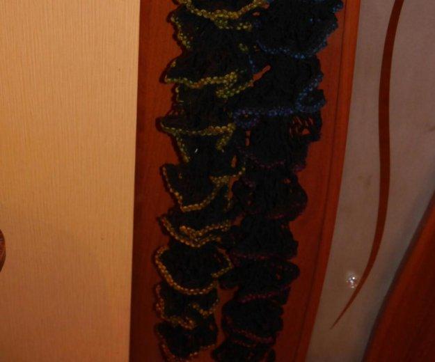 Два шарфика ручной вязки. Фото 2. Липецк.