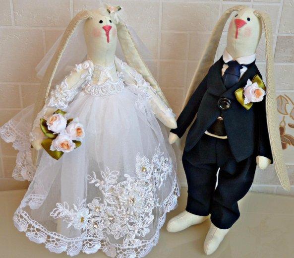 Свадебные зайцы в стиле тильда. Фото 1. Москва.
