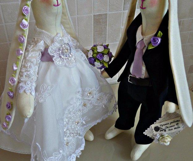 Свадебные зайцы в стиле тильда. Фото 3. Москва.