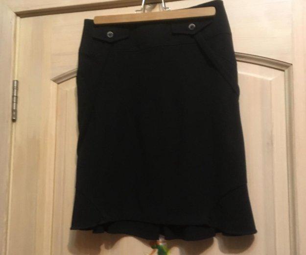 Новая чёрная дизайнерская юбка. Фото 1. Люберцы.