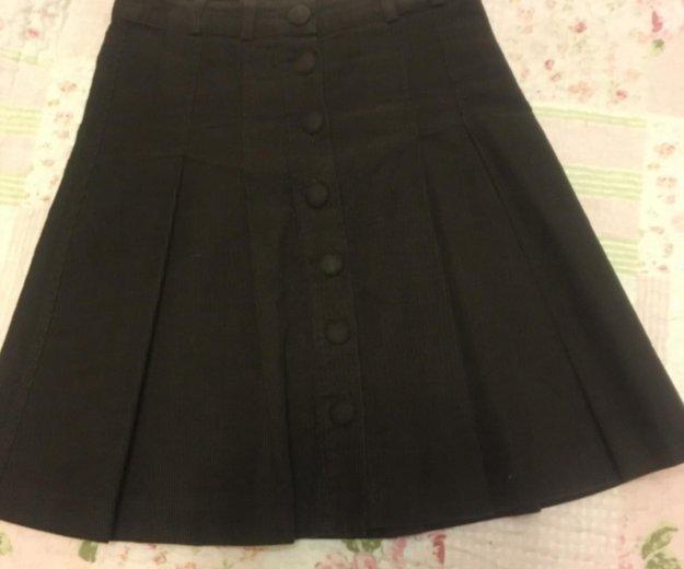 Коричневая вельветовая юбка. Фото 1. Люберцы.