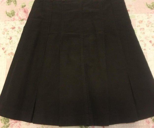 Коричневая вельветовая юбка. Фото 2. Люберцы.