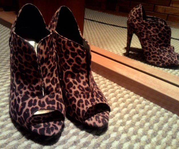 Туфли с открытым носом леопард. Фото 1. Краснодар.