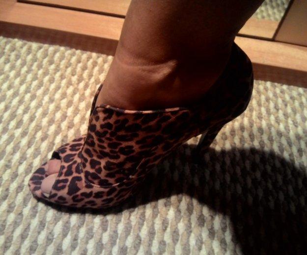 Туфли с открытым носом леопард. Фото 4. Краснодар.