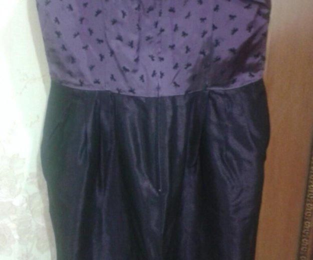 Темно-фиолетовое платье на тонких лямочках. Фото 3. Туапсе.