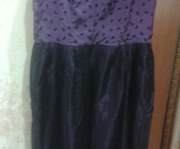 Темно-фиолетовое платье на тонких лямочках. Фото 4. Туапсе.
