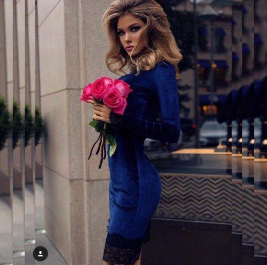 Новое бархатное платье. Фото 1. Ногинск.