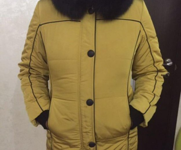 Зимняя куртка с натуральным мехом. Фото 4. Бор.