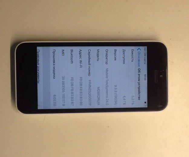Iphone 5c white. Фото 2. Самара.