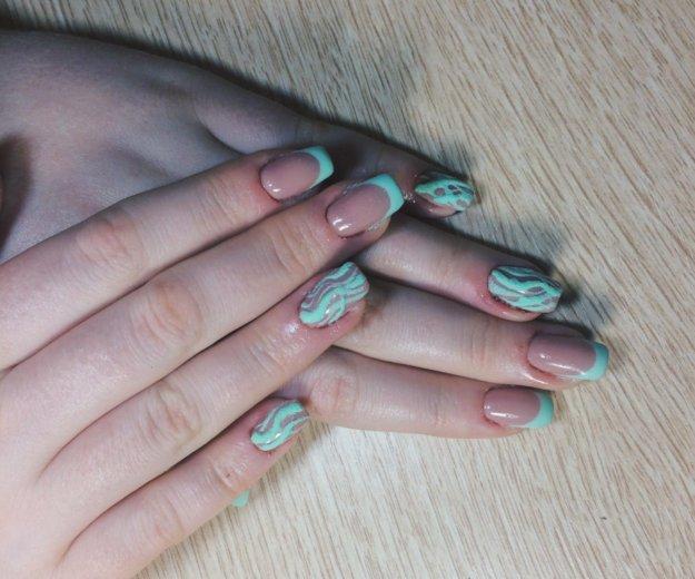 Наращивание и покрытие своих ногтей гелем. Фото 3. Ульяновск.
