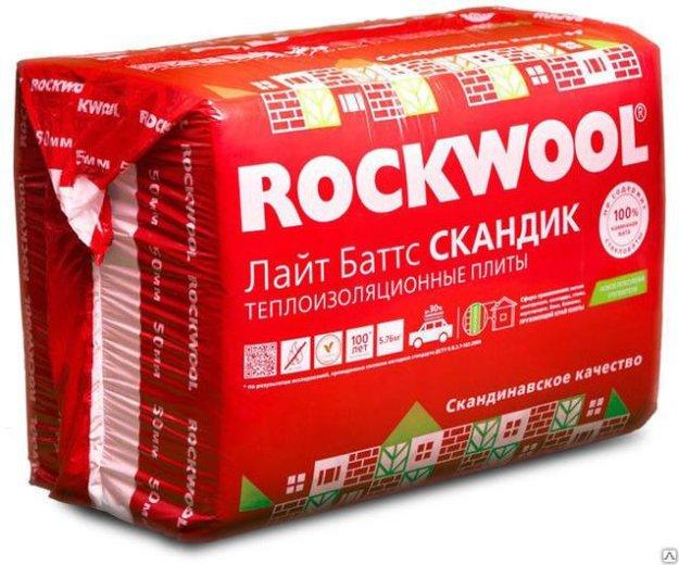 Rockwool лайт баттс скандик 50 мм. Фото 1.
