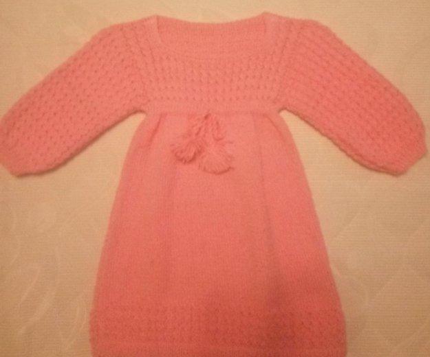 Детское вязаное платье ручной работы. Фото 2. Санкт-Петербург.
