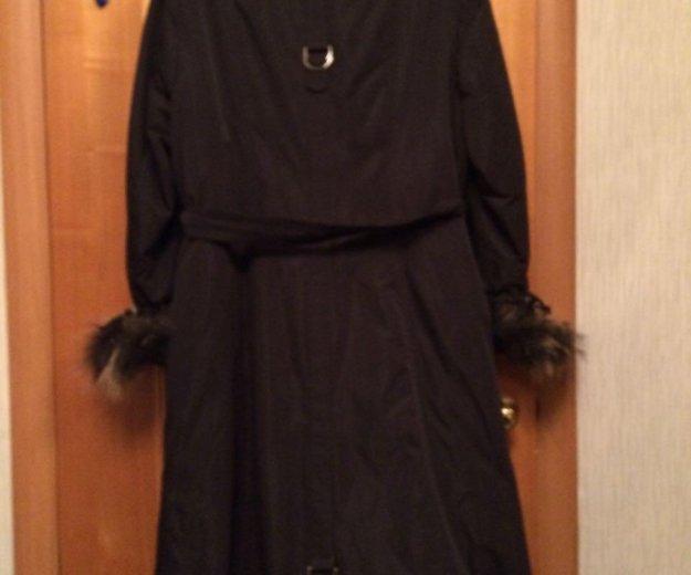 Зимнее пальто с натуральным мехом. Фото 3. Москва.