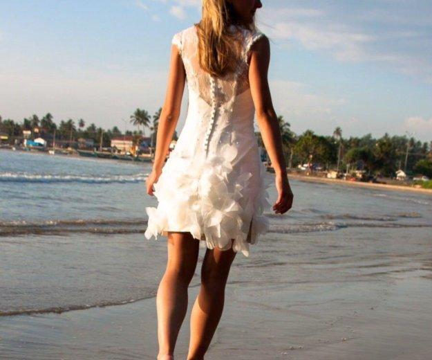 Короткое свадебное платье. Фото 3. Санкт-Петербург.