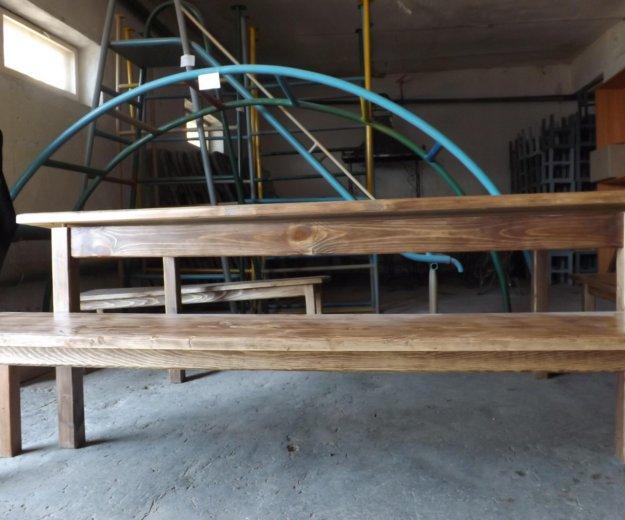 Стол и лавки деревянные. Фото 1. Самара.