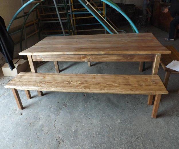 Стол и лавки деревянные. Фото 2. Самара.