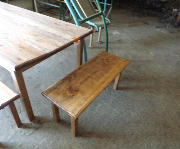 Стол и лавки деревянные. Фото 3. Самара.