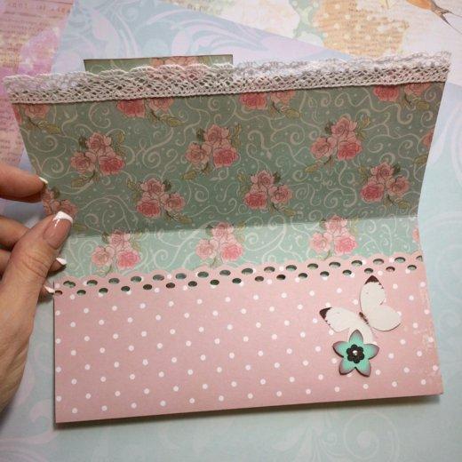 Подарочный конверт 18,5х9 см. Фото 2. Москва.