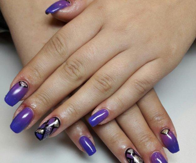 Покрытие ногтей shellac,наращивание ногтей. Фото 2. Рязань.