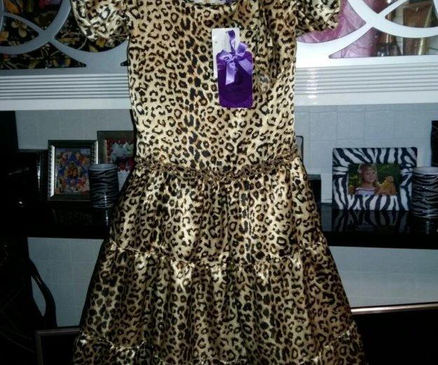Нарядное новое платье атласное .рост152. Фото 1. Сочи.