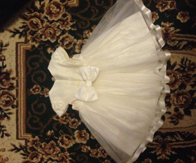 Нарядное пышное платье+ободок 92. Фото 2. Москва.