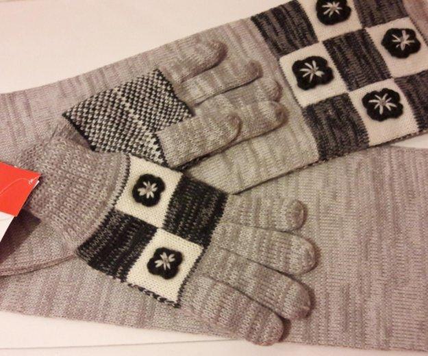Комплект перчатки и шарф. новый. Фото 4. Москва.