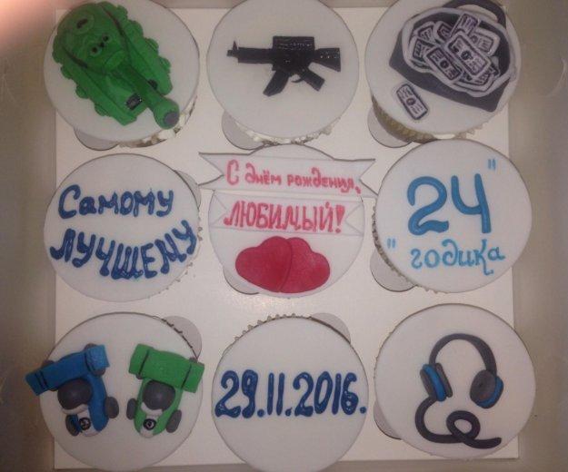Капкейки, кейк попсы, торты, лепка на заказ. Фото 1. Москва.