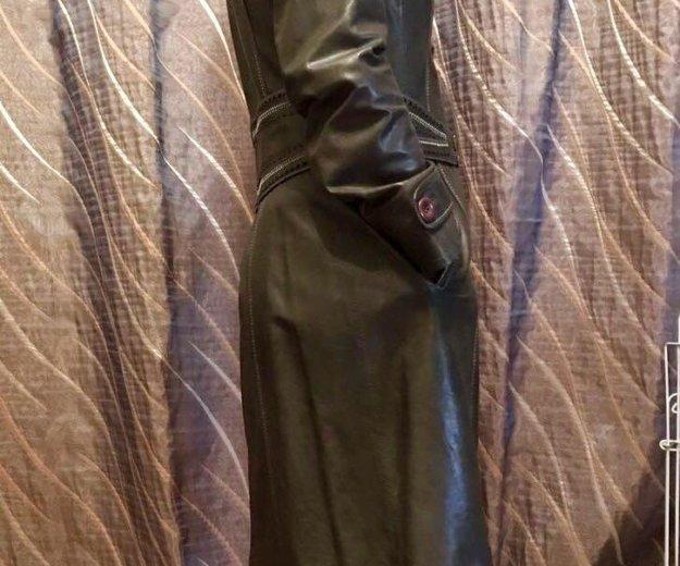 Пальто кожаное новое. Фото 4. Москва.