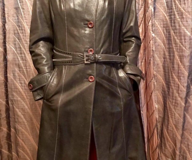 Пальто кожаное новое. Фото 1. Москва.